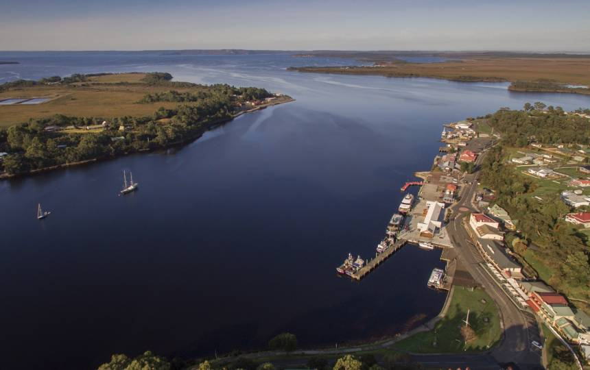 Strahan Harbour Aerial