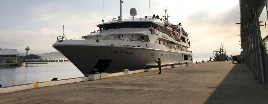 Domestic expedition cruise returns to the Port of Hobart