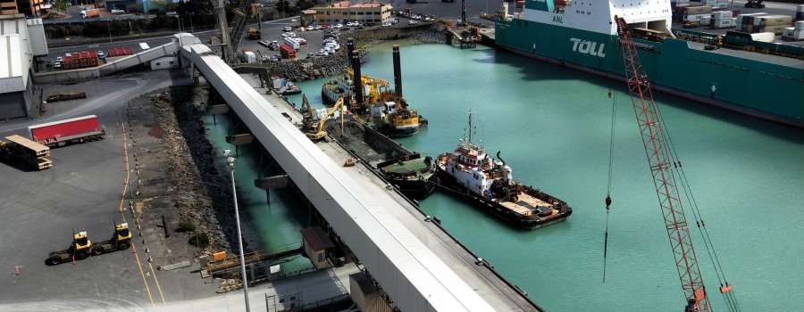 TasPorts work to facilitate new larger ships at Burnie Port