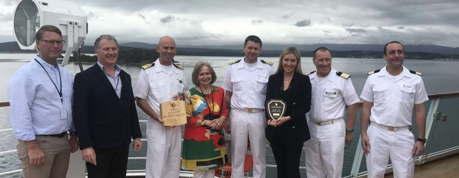 Seabourn Sojourn maiden voyage to Beauty Point