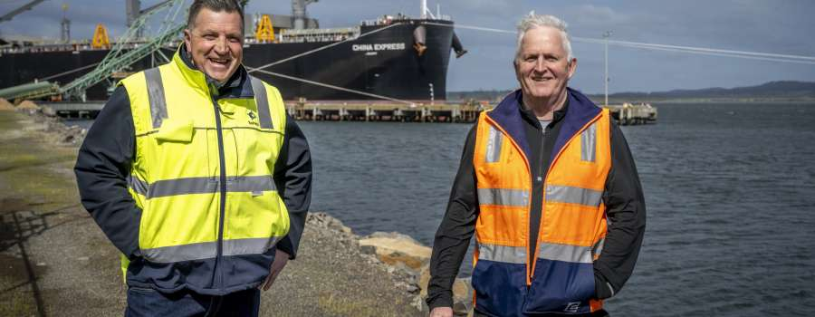 TasPorts welcomes China Express to Bell Bay